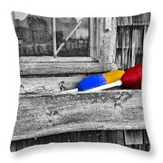 Motif Number One Sunrise Reflections Bw Throw Pillow