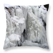 Motion Frozen In Ice Throw Pillow