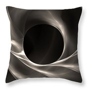 Motion Of Filaments On Black Throw Pillow