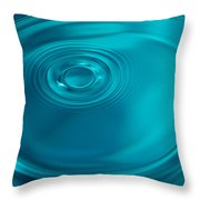 Motion On Water Surface Throw Pillow