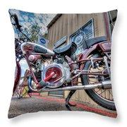 Moto Guzzi Classic Throw Pillow