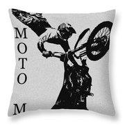 Moto Man Throw Pillow