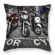Motor Cycles Throw Pillow
