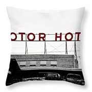 Motor Hotel Throw Pillow