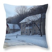 Motor Mill Inn And Livery Throw Pillow