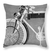 Motorcycle, 1898 Throw Pillow