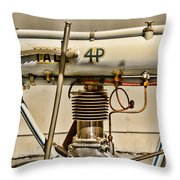 Motorcycle - 1911 Yale 4hp Throw Pillow