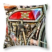 Motorcycle - 1914 Excelsior Auto Cycle Throw Pillow