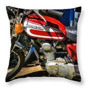Motorcycle - 1974 Honda Cl 125 Scrambler Classic Throw Pillow