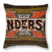 Motorcycle - Henderson Gas Tank Throw Pillow