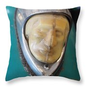 Motorcycle Medalion Throw Pillow