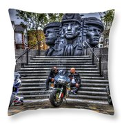 Motorcycle Rally 4 Throw Pillow