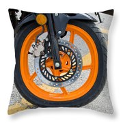 Motorcycle Wheel Throw Pillow