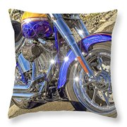 Motorcycle Without Blue Frame Throw Pillow
