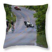 Motorcycles And Bicycles Throw Pillow