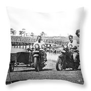 Motorcycles Set Golf Record Throw Pillow