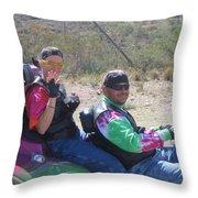 Motorcyclists Helldorado Days Parade Tombstone Arizona 2004 Throw Pillow