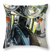 Motorcyle Classic Headlight Throw Pillow
