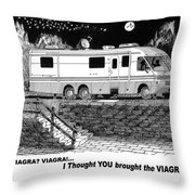 Motorhome Viagra Moonlight R V Camping Throw Pillow