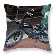Motorized Bicycle Throw Pillow