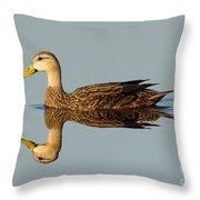 Mottled Duck Throw Pillow
