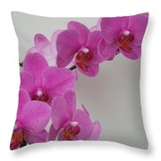 Mottled Orchid 1 Throw Pillow