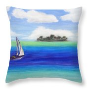 Motu Sailing Throw Pillow