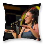 Moulin Rouge Theatre -  What A Voice Throw Pillow