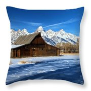 Moulton Barn Closeup Throw Pillow