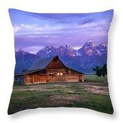 Moulton Barn Sunrise Throw Pillow