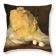 Mound Of Butter Throw Pillow