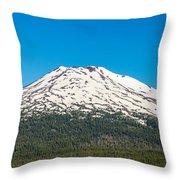 Mount Bachelor Closeup Throw Pillow
