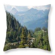 Mount Baker Area Washington Throw Pillow
