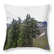 Mount Baker Area Wilderness Throw Pillow