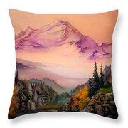 Mount Baker Morning Throw Pillow