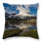 Mount Baker Skies Reflection Throw Pillow