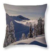 Mount Baker Snowscape Throw Pillow by Mike Reid