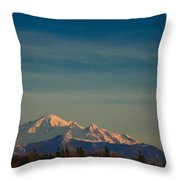 Mount Baker Sunset Throw Pillow