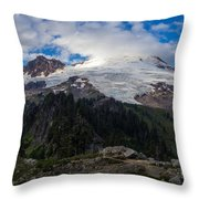 Mount Baker View Throw Pillow