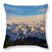 Mount Baldy On A New Years Eve Throw Pillow