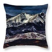 Mount Blanca Throw Pillow