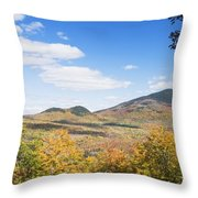 Mount Blue State Park In Fall Weld Maine Throw Pillow