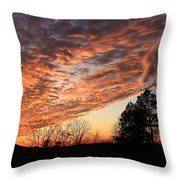 Mount Cheaha Sunset-alabama Throw Pillow