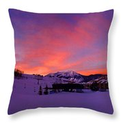 Mount Crested Butte 2 Throw Pillow