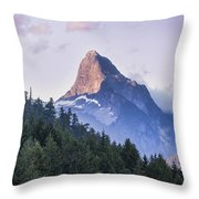 Mount Denman In Desolation Sound Marine Throw Pillow