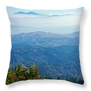 Mount Diablo From Mount Tamalpias-california Throw Pillow