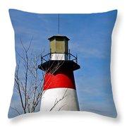 Mount Dora Lighthouse Close Up Throw Pillow