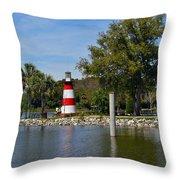 Mount Dora Lighthouse Throw Pillow