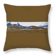 Mount Evans And Summit Lake Throw Pillow