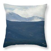 Mount Evans In Snow Throw Pillow